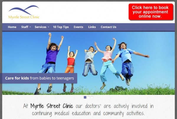 portfolio Myrtle Street Clinic Website