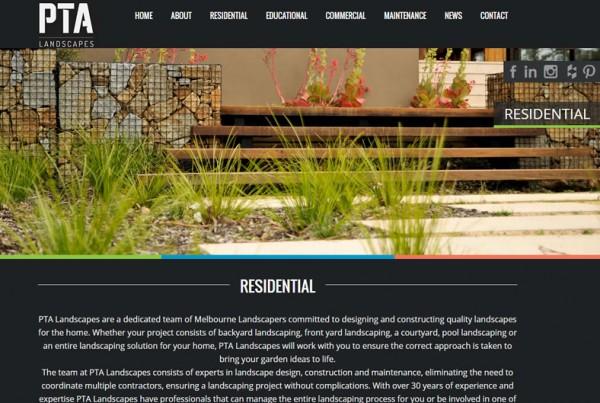 Website Portfolio PTA Landscape